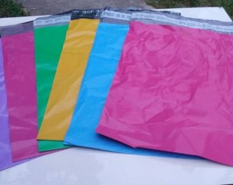 25 Assorted 10x13 Poly Mailers