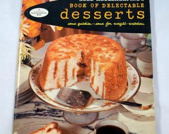 Good Kousekeeping's Book of Delectable Desserts Vintage Cookbook 1958 1950s Cookbook 1950s Dessert Cookbook Vintage Entertaining