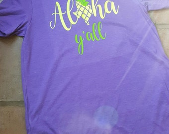 Aloha Y'all - Texas Summer Shirt by Paisley Jades