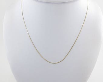 14k Yellow Gold Cuban Chain 16 Inches 0.9 gram - Great Chain For Pendant