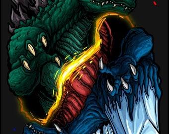 Yin/Yang Godzilla vs Space Godzilla