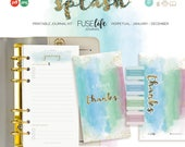 Daily Gratitude Journal : Printable Personal FUSElife Splash > 95x172mm with Covers, Pages, Bookmark, Tabs + Tip Guide (jes0568)