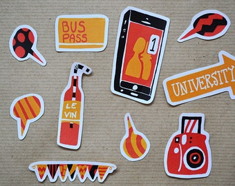 Student Life Sticker Pack #2 - Pack of 10 Stickers