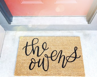 LOCAL PICKUP ONLY | Custom Family Doormats | 1.6' x 2.6'