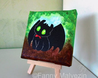 Toothless (How to Train your Dragon) - Mini painting