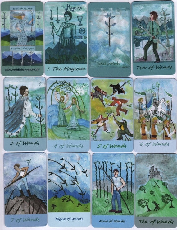 Airy Wands Tarot: Classic-size Deck In Stock