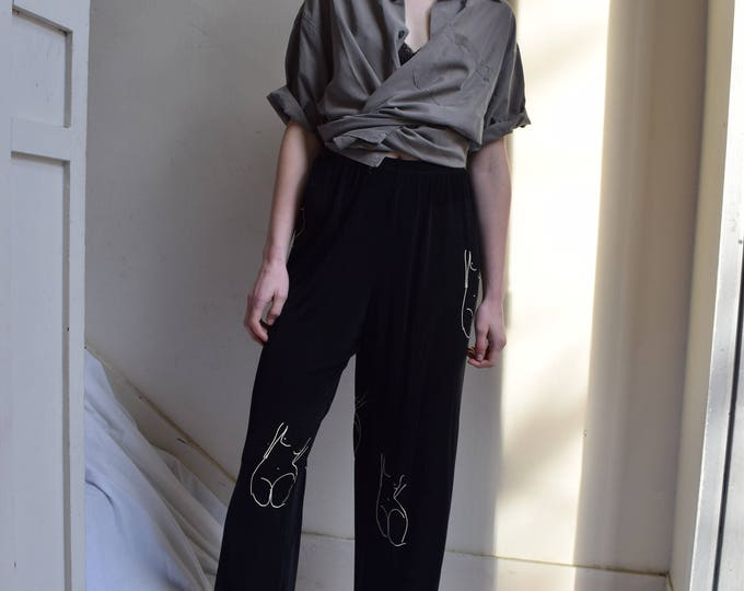Pablo Black High Waist Lounge Pant
