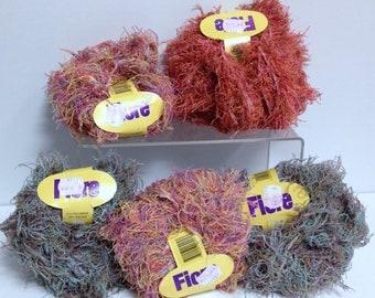 Vintage Luxury Yarn, Fiore Yarn Fine Fancy Wavey Feathery Shimmering Whispy Yarn Made in Italy Novelty Yarn for Fiber Art Project & Knitting