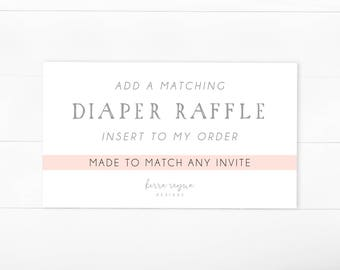 Matching Diaper Raffle Insert