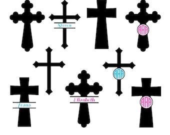 Cross svg silhouette, Christian Cross SVG Cut Files, cross monogram svg, Christian Svg, Monogram Frames, Cricut files, svg, dxf, eps, png.