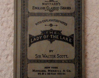 The Lady of the Lake Maynards English Classic Series by Sir Walter Scott