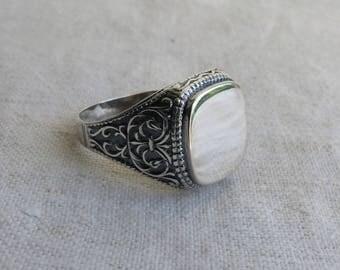 Vintage Sterling Silver Ring / silver Signet Ring / Sterling Silver Mens Ring / Signet Ring / Men's Ring Statement Ring