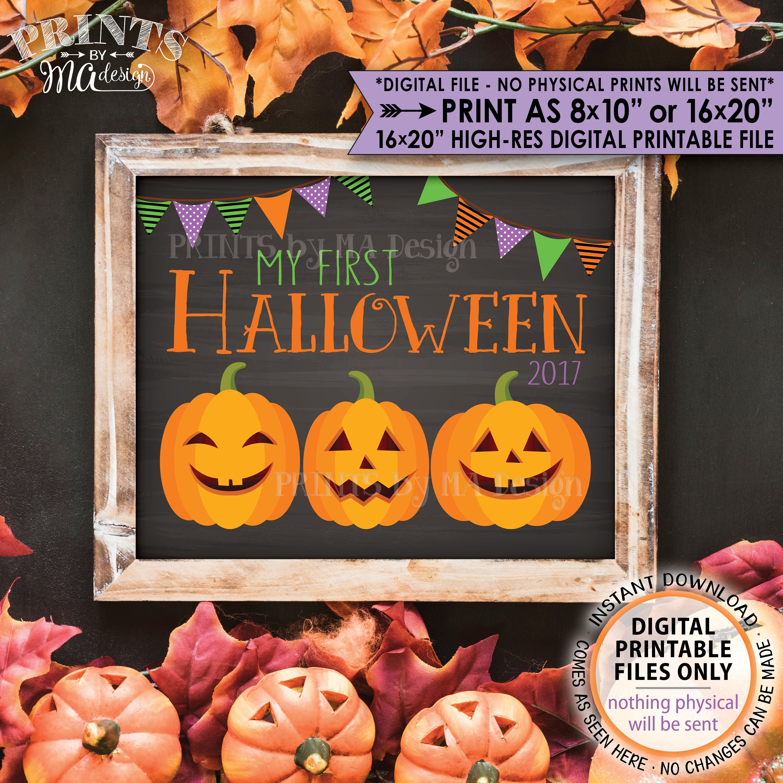 my first halloween sign halloween babyu0027s 1st halloween photo prop pumpkins chalkboard style printable instant download