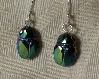 Scarab Earrings No. 2 - Swarovski Crystal