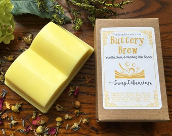 Buttery Brew Bar Soap - Book Lovers Gift - Handmade Soap