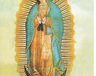 """Our Lady of Guadalupe picture Catholic Art Print  - 8"""" x 10"""" - ready to be framed!"""