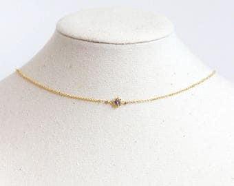 Tanzanite Necklace- Tanzanite Choker, Tanzanite Necklace Gold, Tanzanite Necklace Rose Gold, Tanzanite Jewelry, December Birthstone Necklace