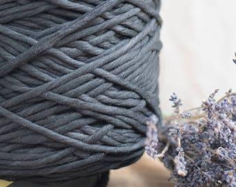 Schwarze Baumwollkordel Schnur / 5mm / Baumwolle Seil / Makramee Seil / Diy Makramee / Super weicher Baumwollseil / weben Seil / Makramee