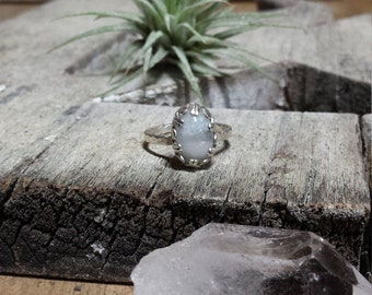 CLEARANCE - Oval Moonstone Ring Size 7