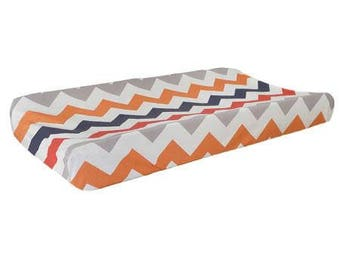 Changing Pad Cover | Chevron Zig Zag Baby In Rugby