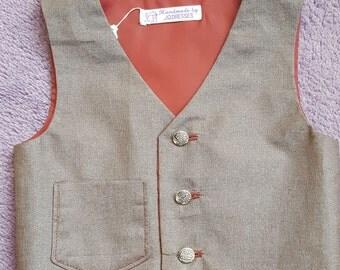 Ring Bearer Waistcoat, Page Boys Waistcoat, Boys Wedding Waistcoat, Special Occasions Waistcoat, Boys Formal Wear, 9-12 months. by JQDresses