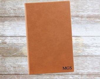 Personalized Leatherette Journal with Initials ,Engraved,Lined,