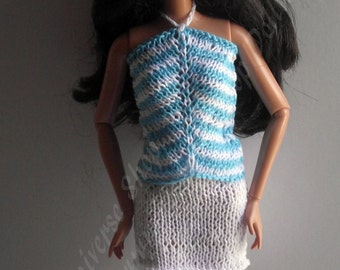 Hand knitted set 2 piece for Barbie