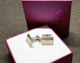 Gold front cuff links silver 835 vintage old MS107