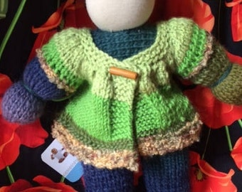 Beth: Pure Wool Waldorf Doll With Jacket
