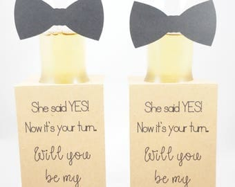 Groomsmen Proposal - Beer Bottle Tags