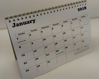 2018 Flip Desk Calendar