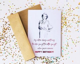 Golden birthday card etsy golden girls birthday card gold foil golden girls card greeting card bookmarktalkfo Images