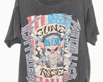 Vintage Metallica / Guns N Roses Tour t shirt