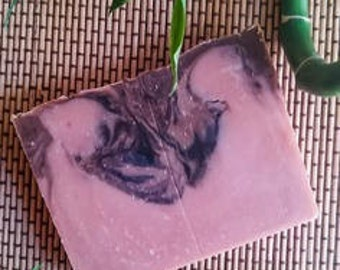 """""""Pink sand"""" soap clay Castor/red/mango/sandalwood/pink natural and organic."""
