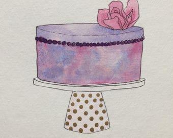 Mini Cake: Polka Dot