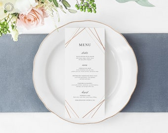 Wedding Menu, Menu Template, Menu, Printable Menu, Menu Card, Menu Printable, Vintage Floral Menu, Menu Card, Wedding printables, #GIS