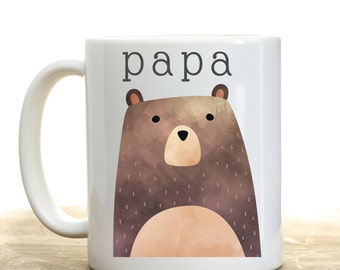 Papa Bear Mug, Gift for Papa, Papa Coffee Mug, Mugs for Grandpa, Pregnancy Announcement to Grandparents, Father's Day Gift for Grandpa