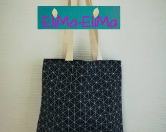 Hand bag fabric tote bag with lining