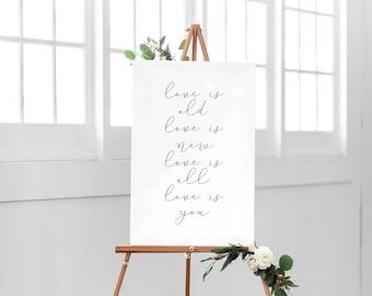 Printable Wedding Quote Sign, Love Wedding Sign, Wedding Decoration Sign, Minimalist Wedding Sign, Calligraphy Sign, Modern Wedding Sign