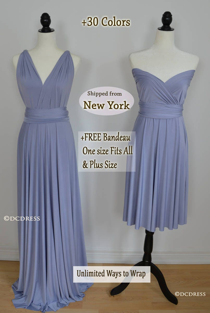 Dusty blue bridesmaid dress infinity dress periwinkle zoom ombrellifo Images
