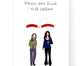 Gilmore Girls Poster / Where You Lead I Will Follow / Stars Hollow / Gilmore Girls Print / Gilmore Coffee / Instant Download / 2JPEG Files