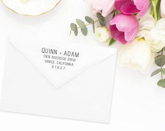 Return Address Stamp, Address Stamp, Custom Address Stamp, Wedding Return Address Stamp, Personalized Return Address Stamp, Rubber Stamp #85