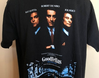 1990 Goodfellas Movie Promo Shirt Vintage Tee 90s Cult Mafia Mob Crime Boss Gangster Scorsese Robert De Niro Joe Pesci Ray Liotta Wiseguy XL