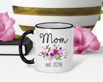 Mom Coffee Mug, New Mom Mug, Gift for New Mom, Mommy to Be Mug, Baby Shower Gift, Gift for Mom, Pregnancy Reveal, Gift for Her