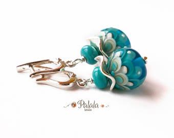 Handmade Lampwork Beads and Sterling Silver Earrings