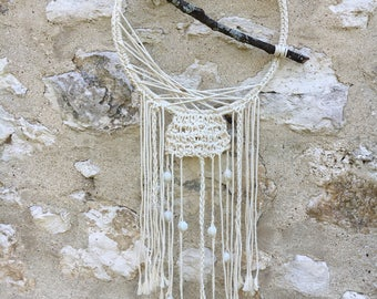 Dream catcher crocheted cotton string