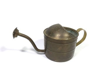 Watering can, Vintage watering can, Copper watering can, Small watering can, Flower pot