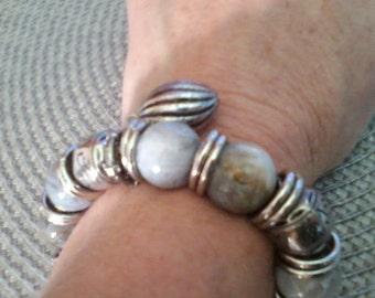 GRAY JASPER Bracelet- Anniversary/Birthday     SALE...