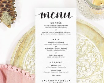 Dinner menu ideas etsy boho wedding menu template wedding menu idea boho menu card menu template wedding junglespirit Choice Image