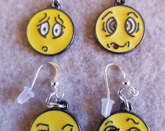 Emoji dangle earrings